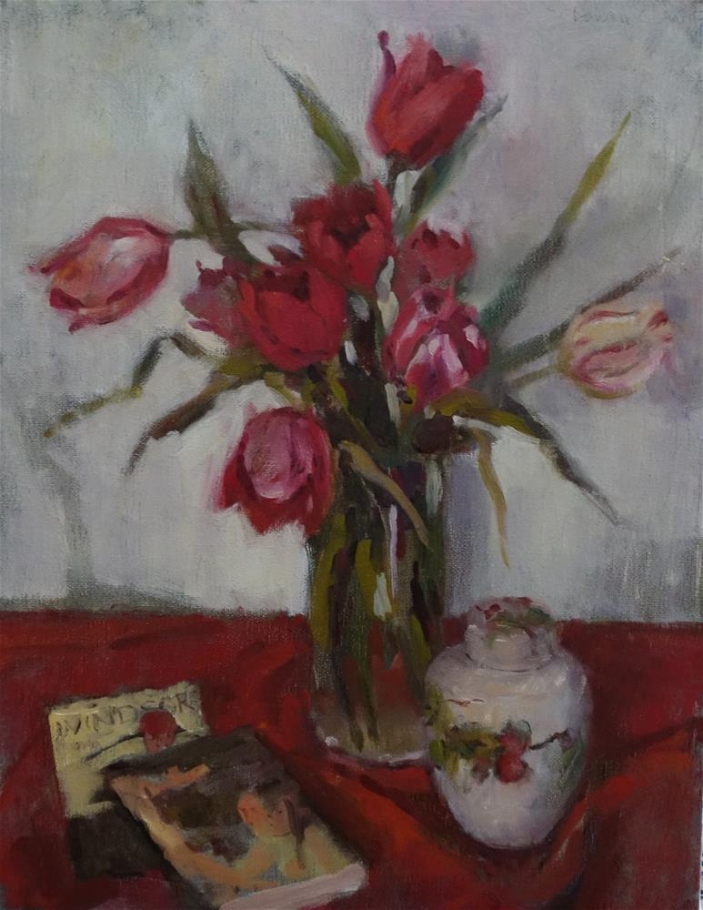 """Ali's Tulips"" original fine art by Lorraine Lewitzka"