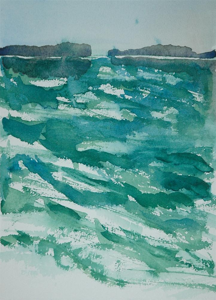 """Green water"" original fine art by Ulrike Schmidt"