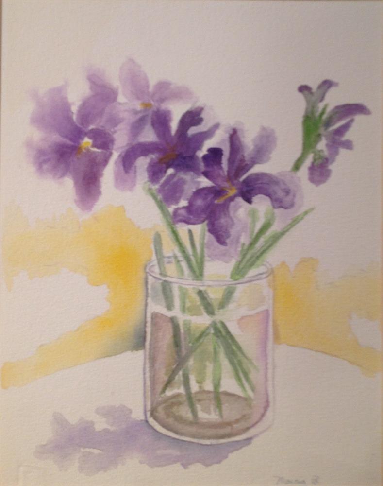 """""""French Iris"""" original fine art by Marcia Bergtholdt"""
