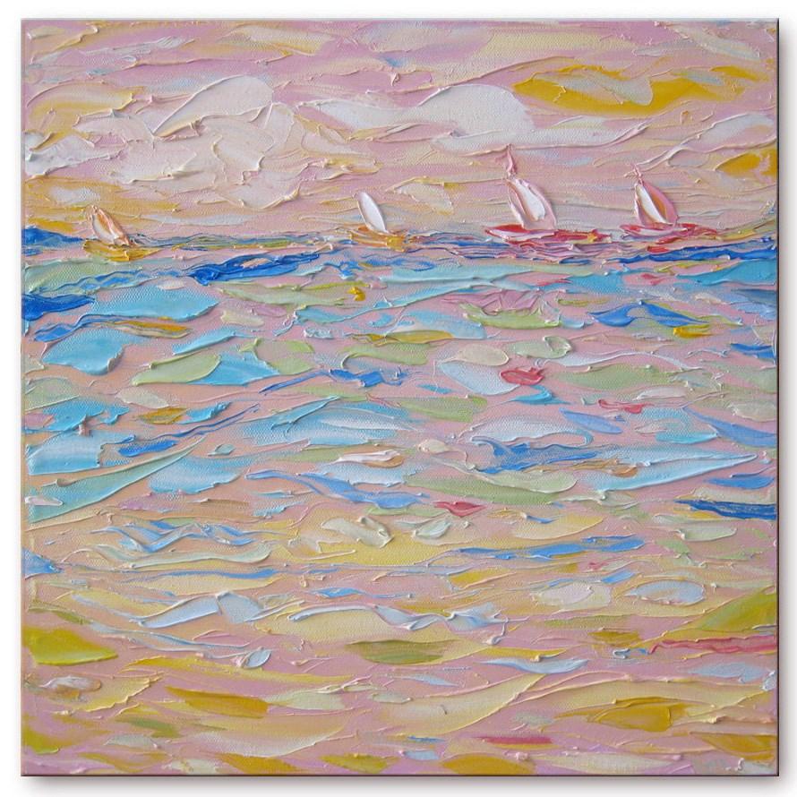"""Evening regatta"" original fine art by Elena Lunetskaya"