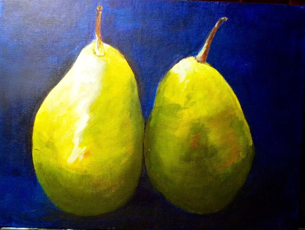 """Green Pears"" original fine art by cheryl buhrman"