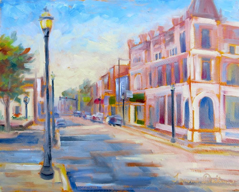 """Morning on Main Street"" original fine art by Tammie Dickerson"