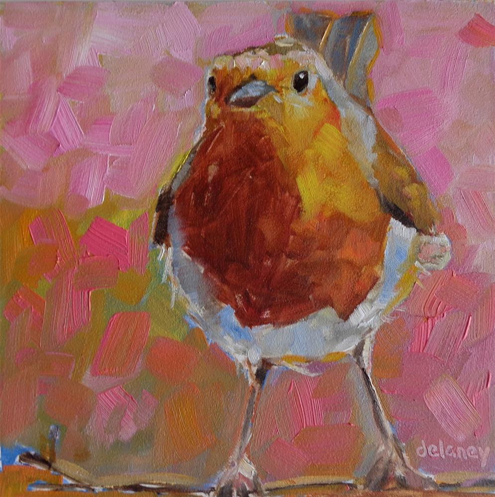 """""""FLIRTY"""" original fine art by Jean Delaney"""