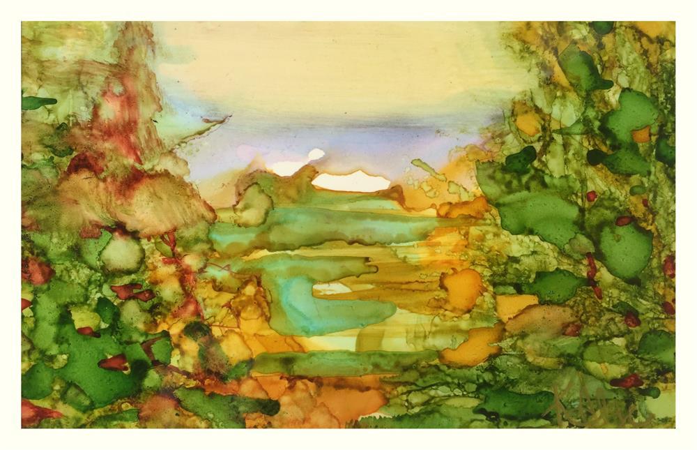 """""""Morning Meadow"""" original fine art by Kelly Alge"""
