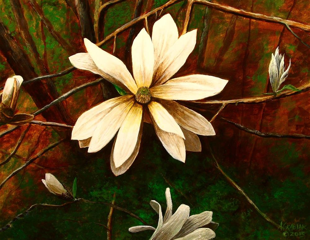 """Star Magnolia"" original fine art by Aaron Grabiak"
