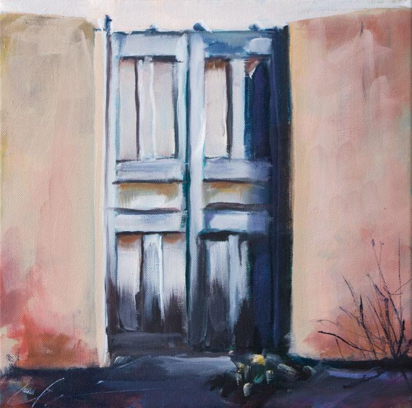 """""""Santa Fe Gate"""" original fine art by Clair Hartmann"""