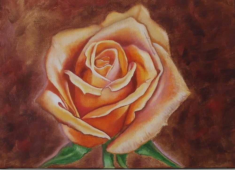 """""""copper rose"""" original fine art by Irina Chekhovtsova"""