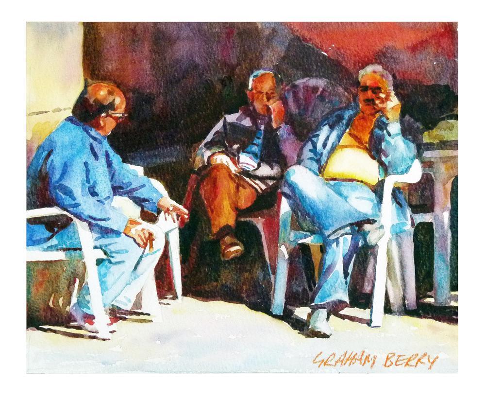 """Three friends"" original fine art by Graham Berry"