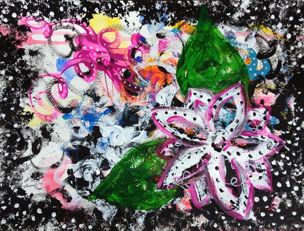 """Flowery Love"" original fine art by Kali Parsons"