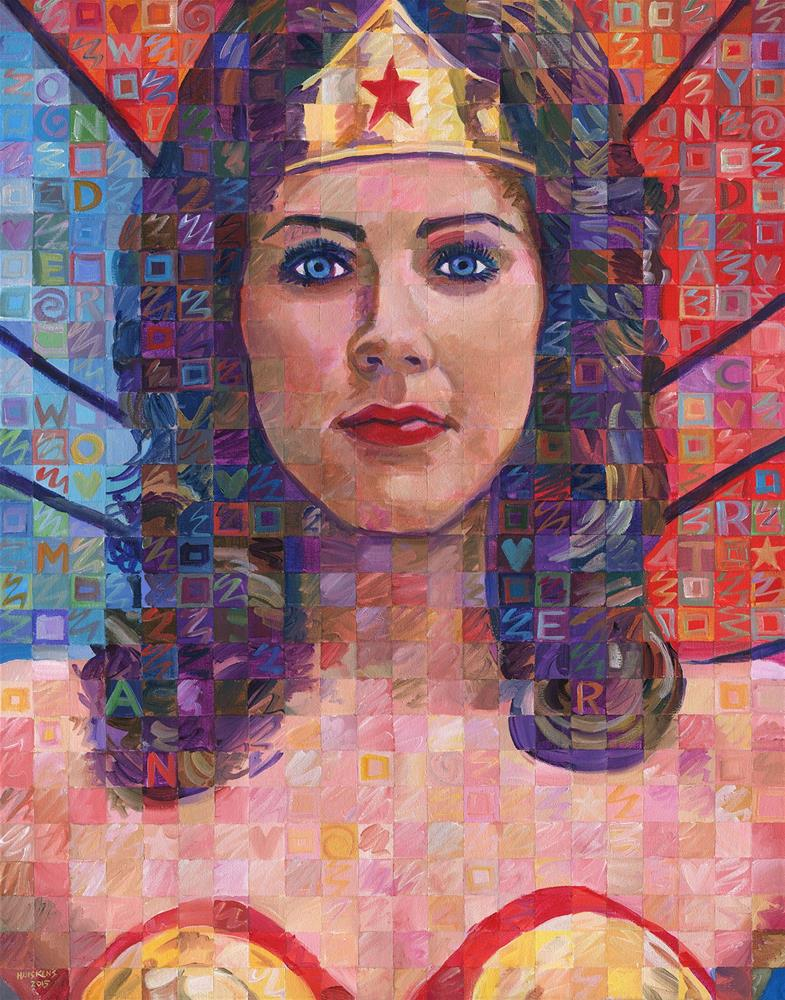 """Lynda Carter as Wonder Woman"" original fine art by Randal Huiskens"
