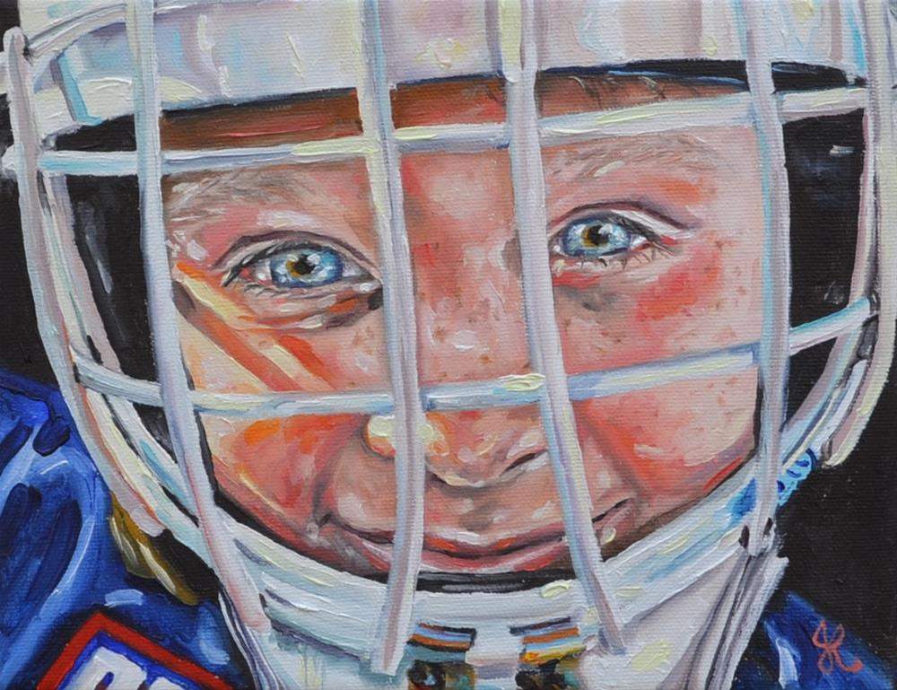 """Hockey Boy"" original fine art by Jacinthe Rivard"