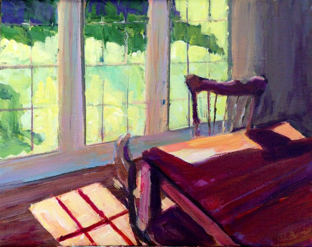 """Interior Table"" original fine art by Beth Carrington Brown"