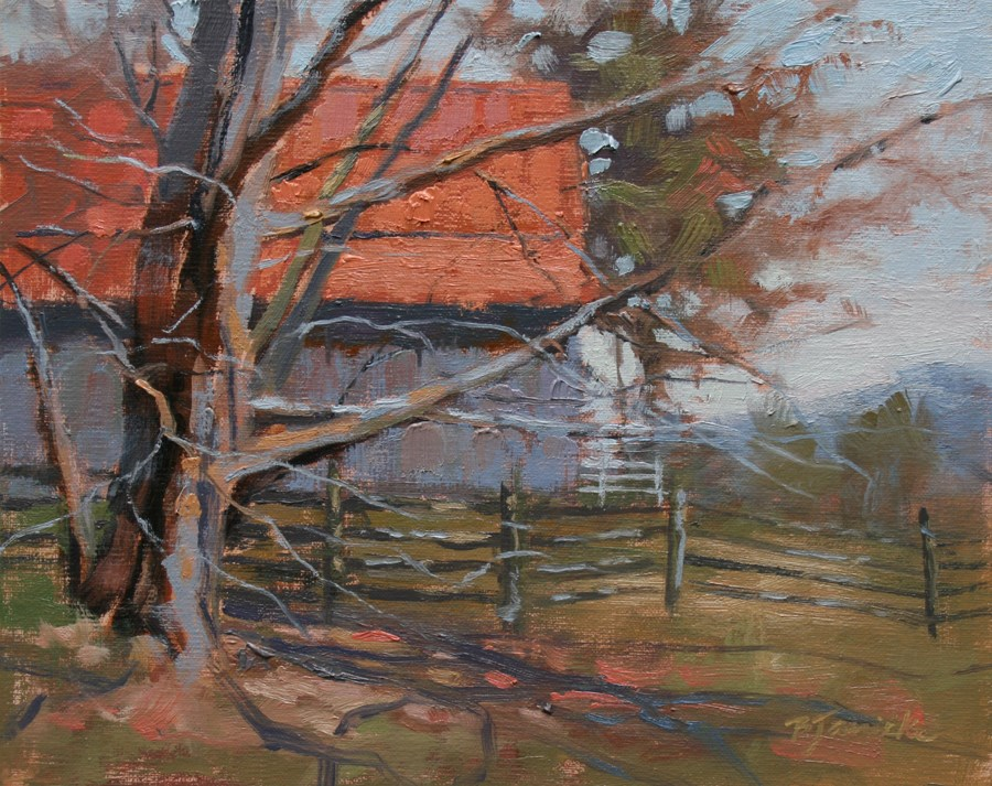"""Orange Roof"" original fine art by Barbara Jaenicke"