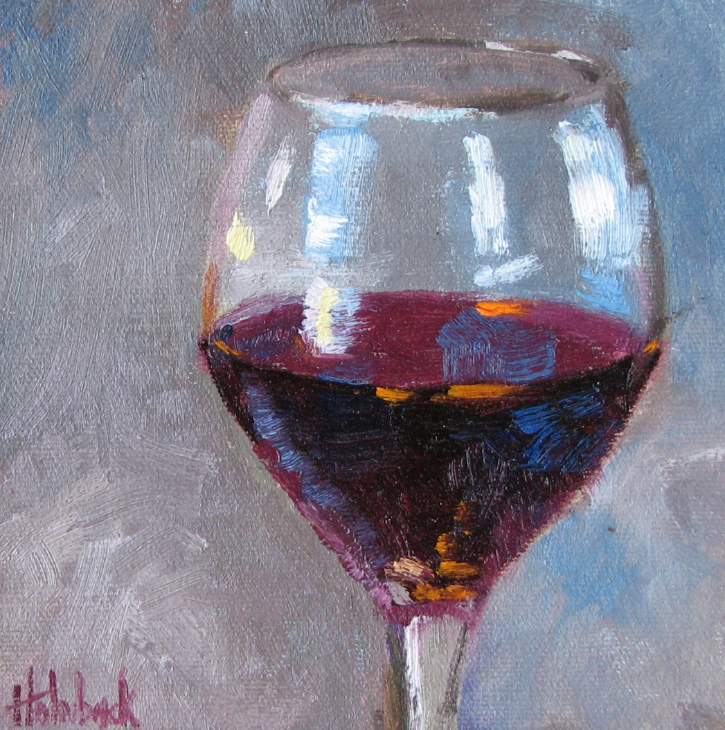 """Red, Please"" original fine art by Pam Holnback"