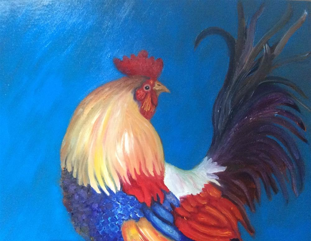 """Fancy Feathers"" original fine art by Susan Hoffheimer"
