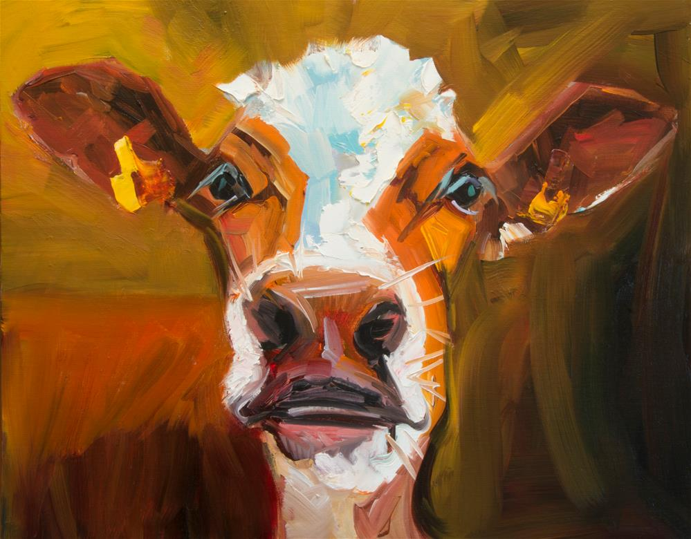 """Goof Cow"" original fine art by Diane Whitehead"