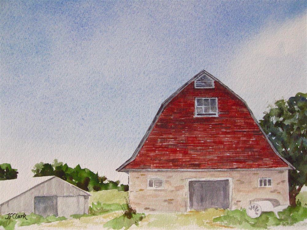 """Williamstown Barn"" original fine art by Judith Freeman Clark"