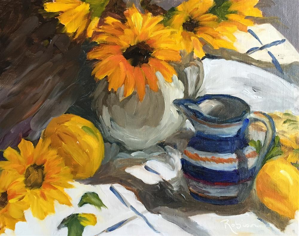 """Sunflowers Make Me Happy"" original fine art by Renee Robison"