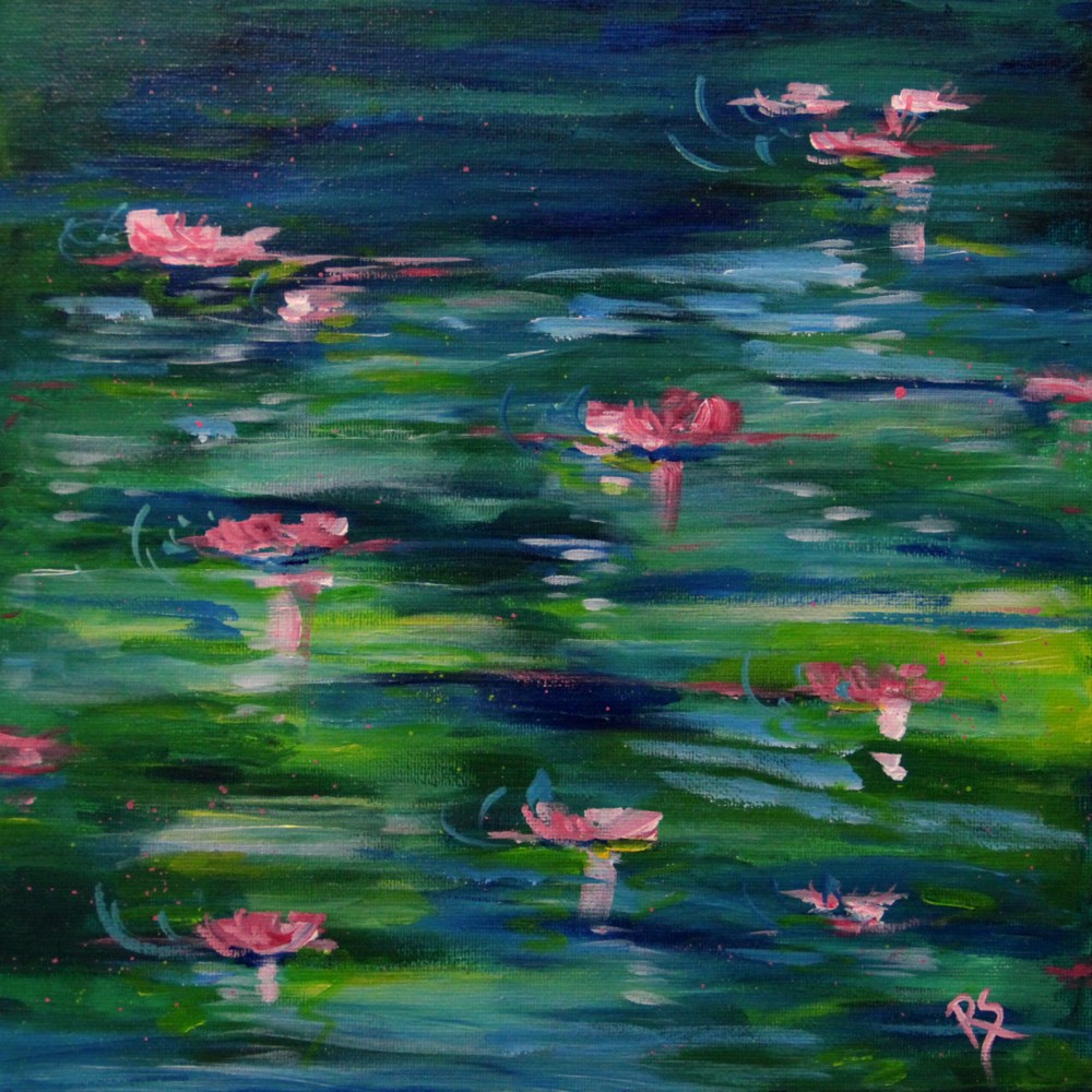 """In Monet's Garden"" original fine art by Roberta Schmidt"