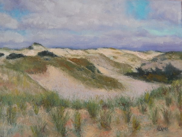 """Cape Cod Dunes"" original fine art by Lori L. Lamb"