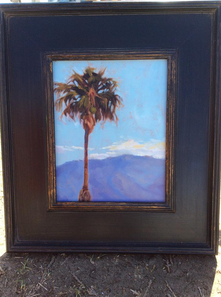 """Palm tree"" original fine art by Leigh Alexandra Sparks"