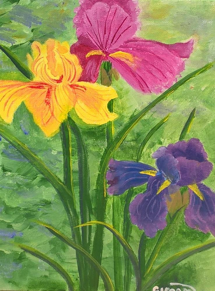 """Irises"" original fine art by Cindy Jensen"