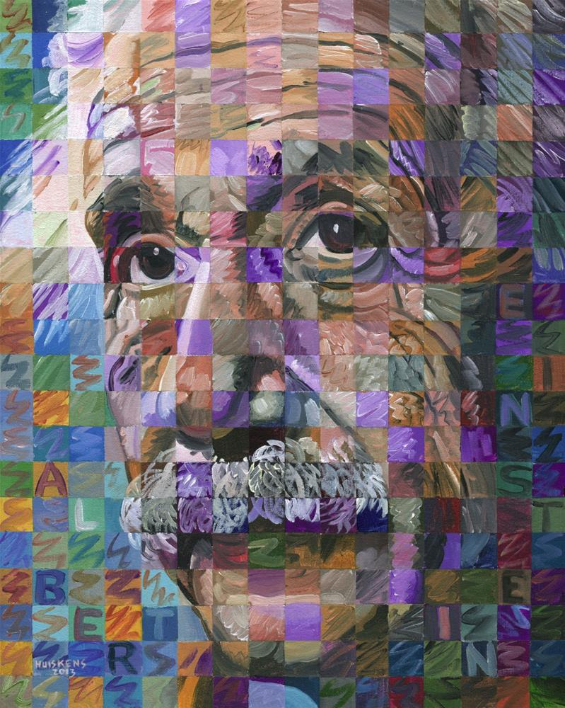 """Albert Einstein #3"" original fine art by Randal Huiskens"