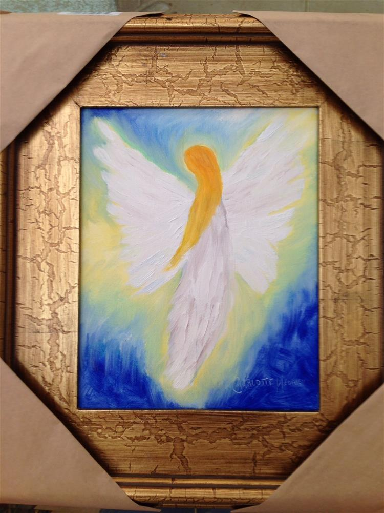 """GOD'S MESSENGER"" original fine art by Charlotte Bankhead Hedrick"