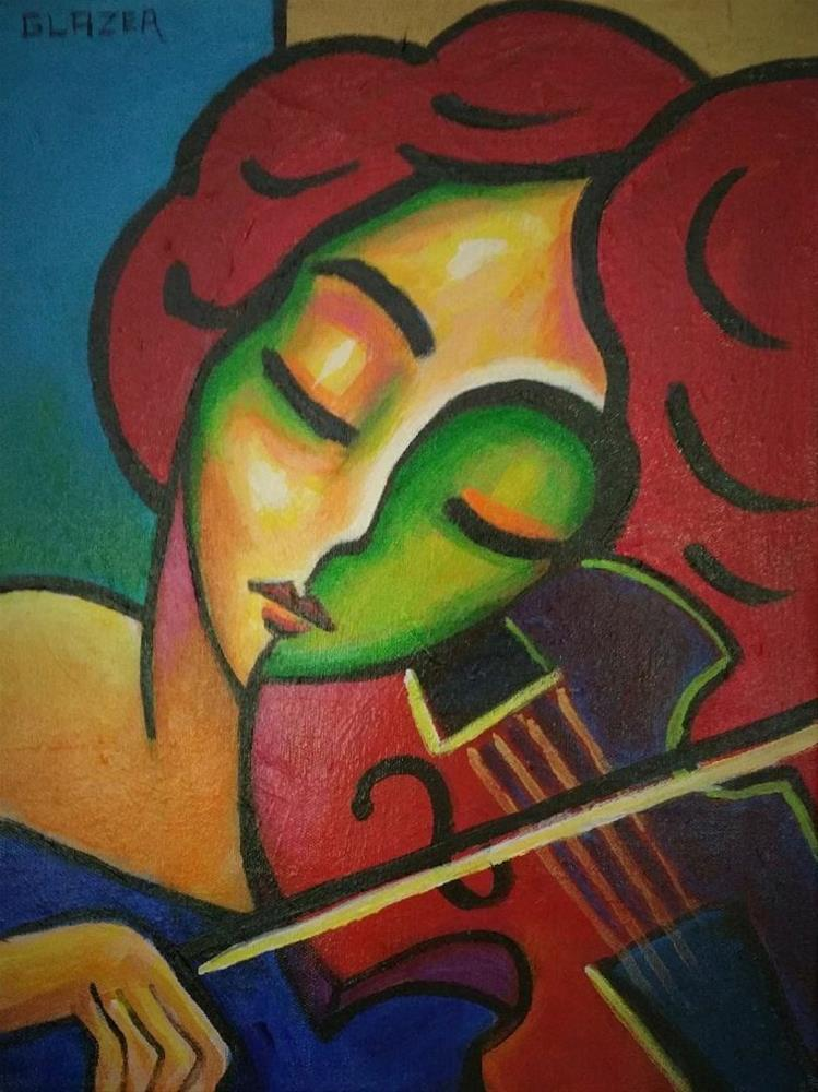 """Violin Solo"" original fine art by Stuart Glazer"
