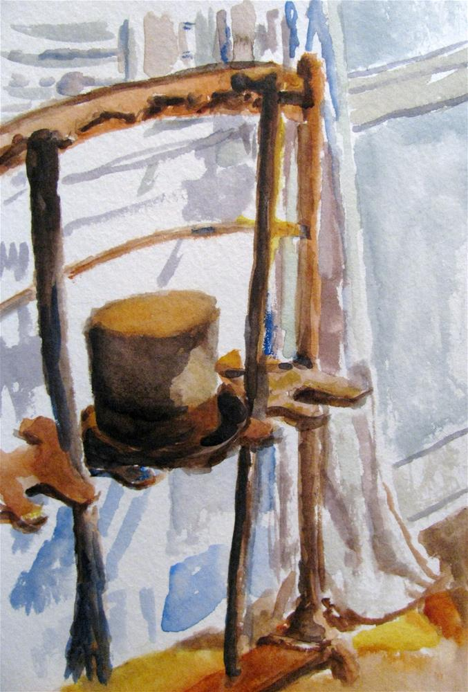 """Oakley Top Hat & Cane"" original fine art by Susan Elizabeth Jones"