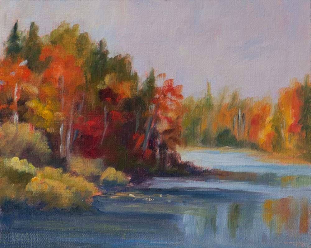 """A Study at Grant's Lake, N.S."" original fine art by Debbie Lamey-Macdonald"
