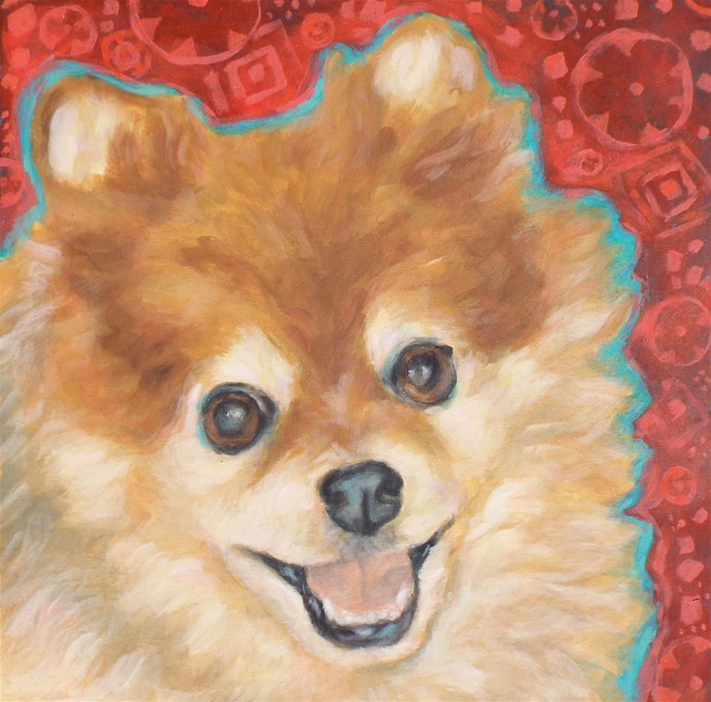 """Chewy"" original fine art by Kathy Hiserman"