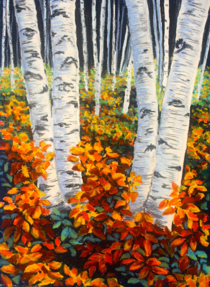 """Color on the Forest Floor"" original fine art by Jill Bates"
