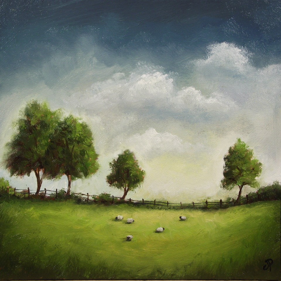 """Four Trees"" original fine art by Jane Palmer"