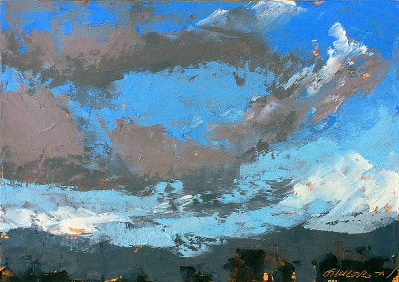 """""""Racing Winter Clouds"""" original fine art by Mary Gilkerson"""