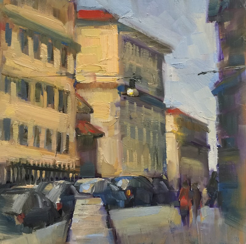 """Borgo S. Spirito"" original fine art by Patti McNutt"