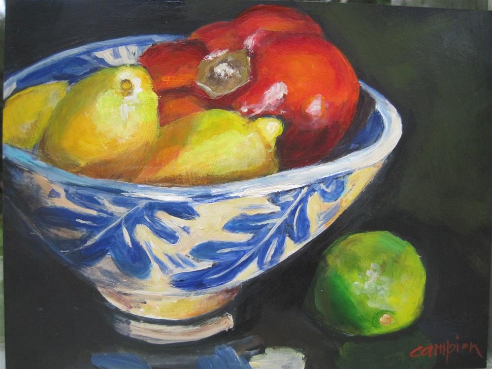 """417 Variety With a Jean Wells Bowl"" original fine art by Diane Campion"