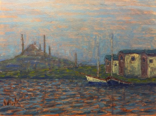 """Istanbul"" original fine art by William Cook"