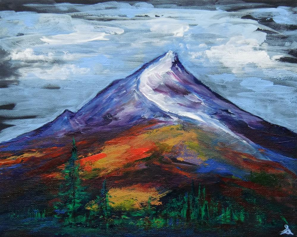 """3255 - Fall Mountain"" original fine art by Sea Dean"
