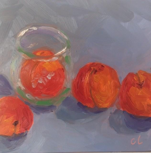 """Apricot Carnival"" original fine art by Cheree Apalona Lueck"