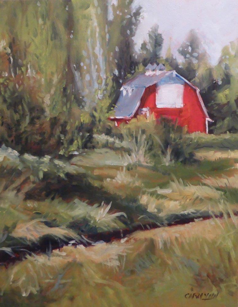 """""""Matheson's Barn """" original fine art by Carolynn Doan"""