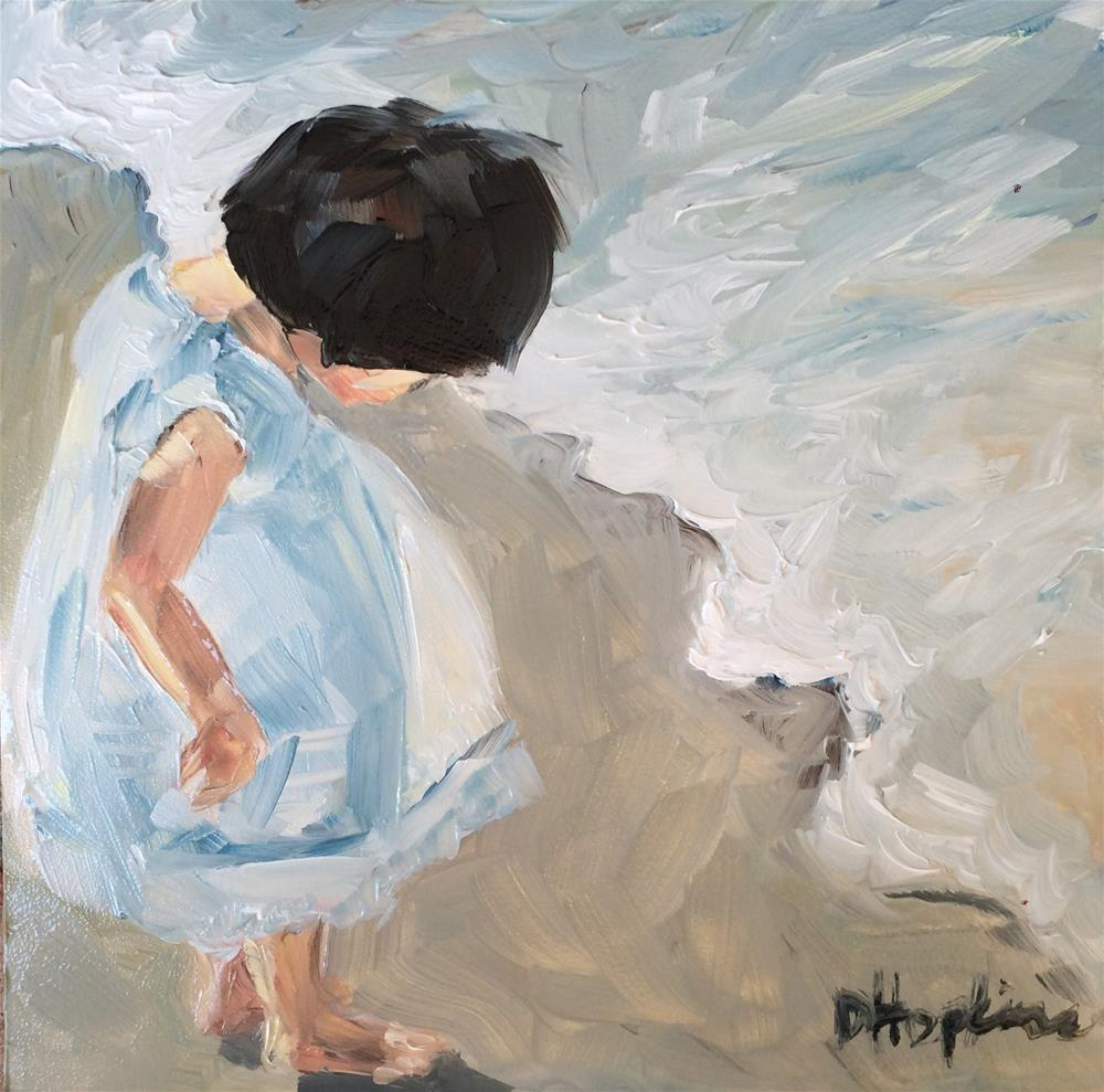 """Watching Waves"" original fine art by Denise Hopkins"