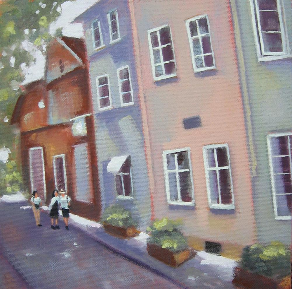 """Bremen Town"" original fine art by Maresa Lilley"