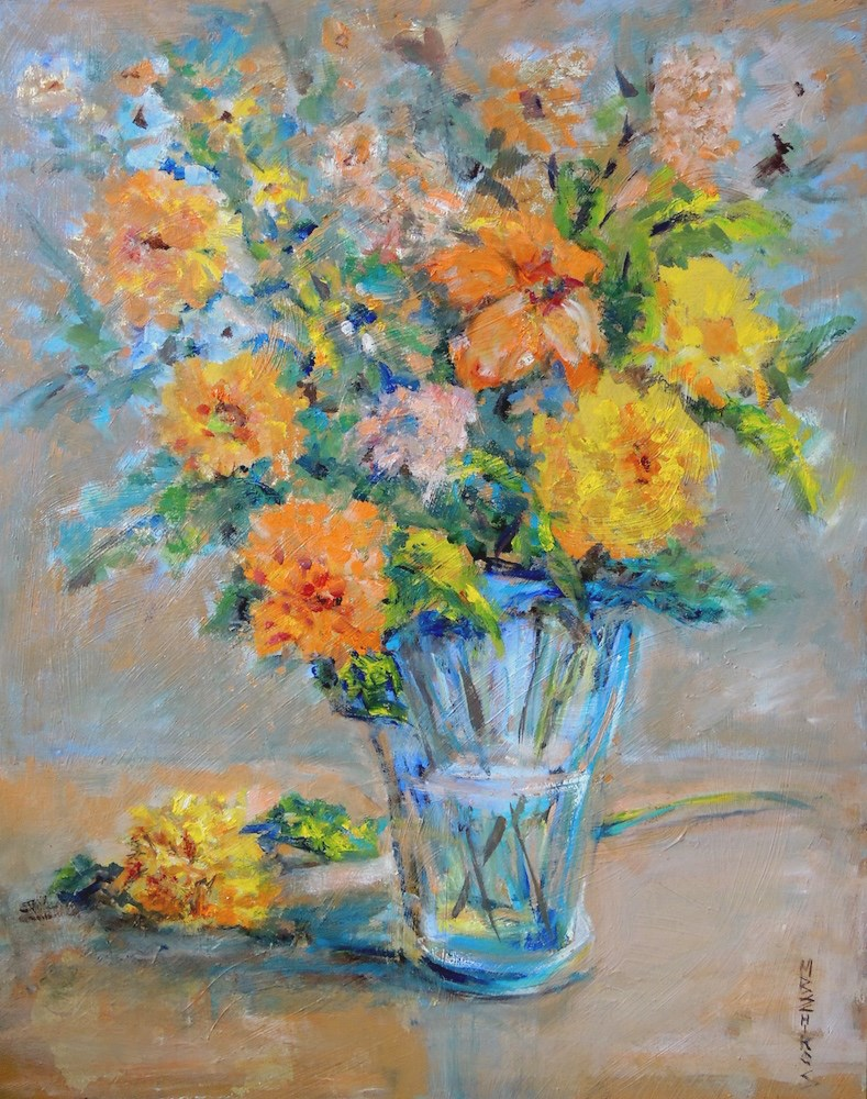 """Highlights of Gold"" original fine art by Mary Schiros"