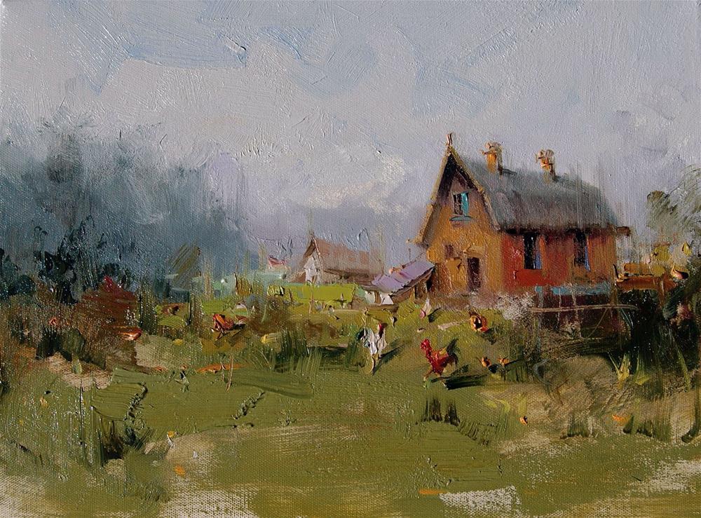 """""""Old Barn"""" original fine art by Mostafa Keyhani"""