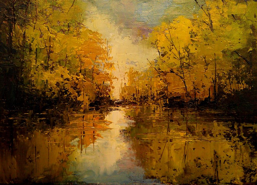 """Reflected Woods"" original fine art by Bob Kimball"