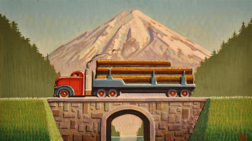 """Logger"" original fine art by Robert LaDuke"