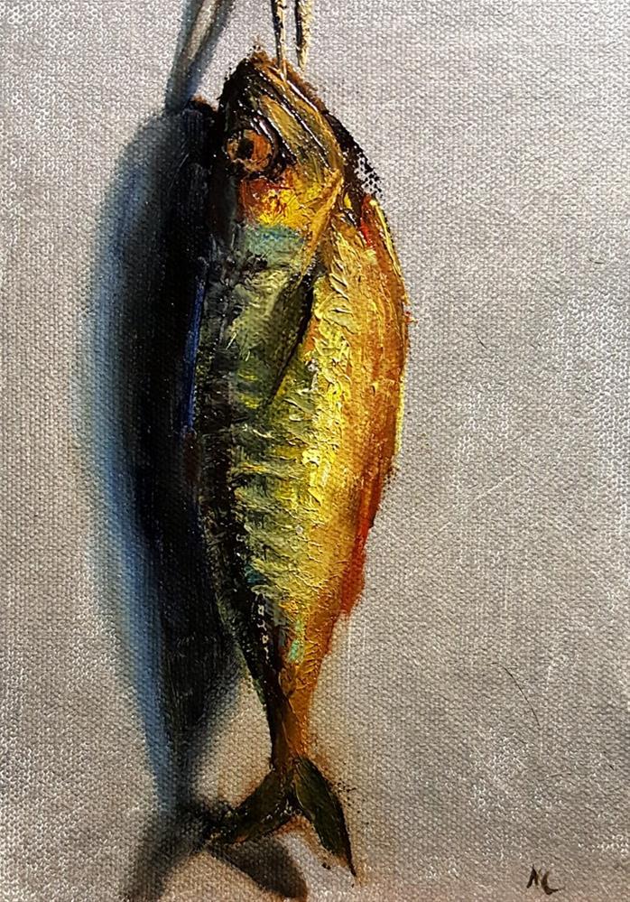 """Hot smoked Mackerel"" original fine art by Natalia Clarke"