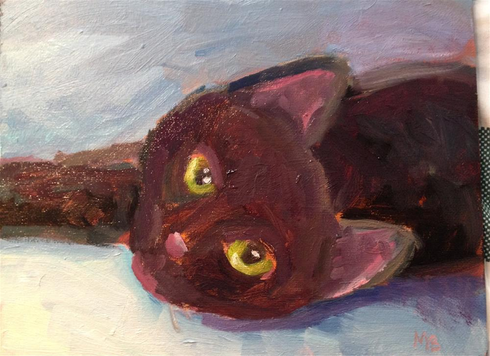 """Smudge"" original fine art by Marcia Bergtholdt"