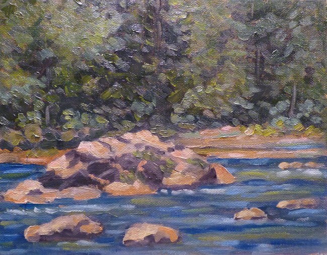 """Olallie Park River Rock"" original fine art by Stan Chraminski"